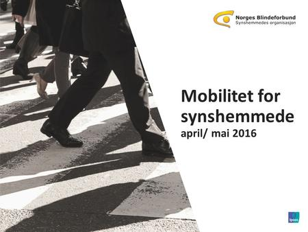 1 © 2016 Ipsos. 11111111 Mobilitet for synshemmede april/ mai 2016 1 © 2015 Ipsos.