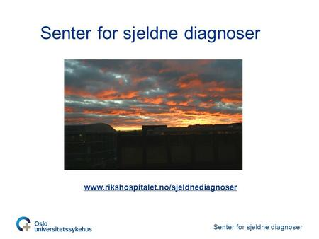 Senter for sjeldne diagnoser