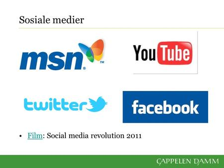 Sosiale medier Film: Social media revolution 2011Film.