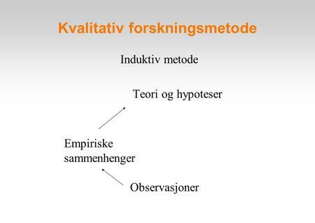 Induktiv metode eksempel