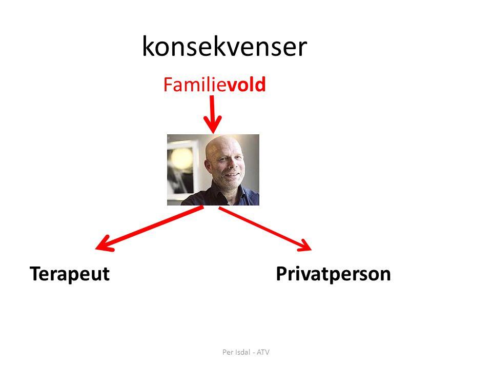konsekvenser Familievold TerapeutPrivatperson Per Isdal - ATV