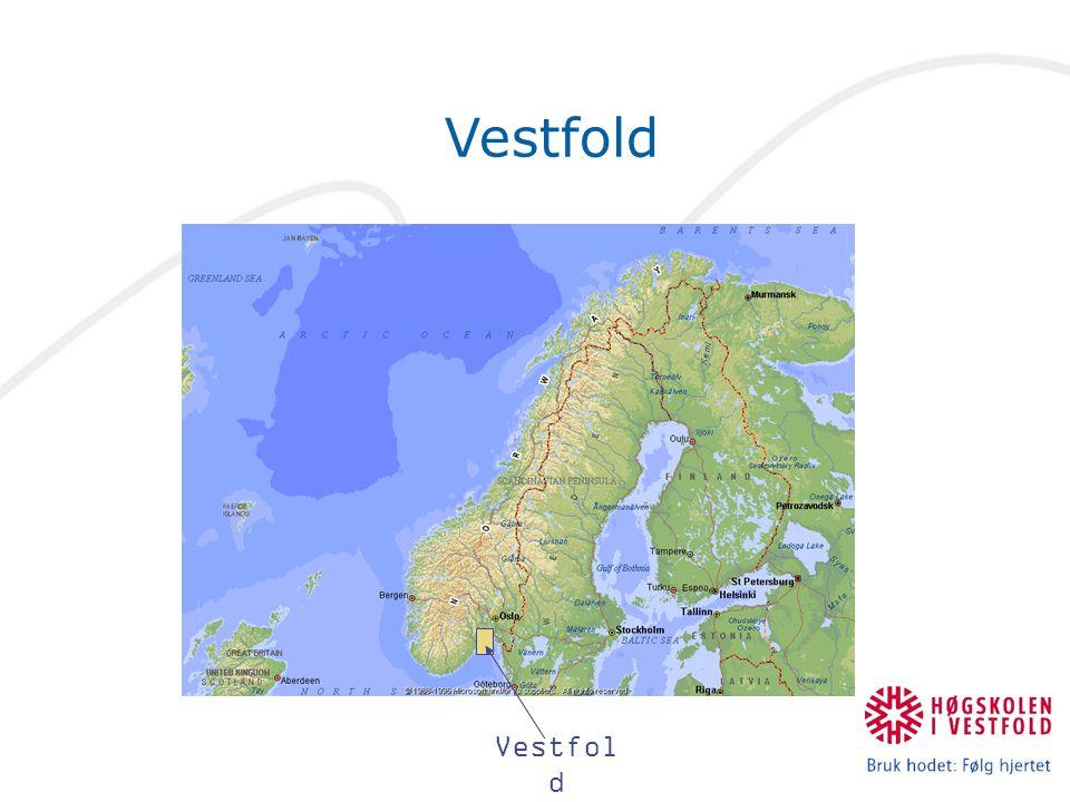 Vestfold fylke: kommunene studiestedene HVE: Horten HVE: Tønsberg (LU) HVE: Larvik (LU)