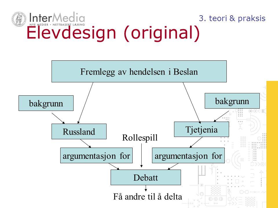 Læring som aktivitetssystem Nytt fenomen: nye kontekster, nye artefakter Forståelse av konflikten 3.