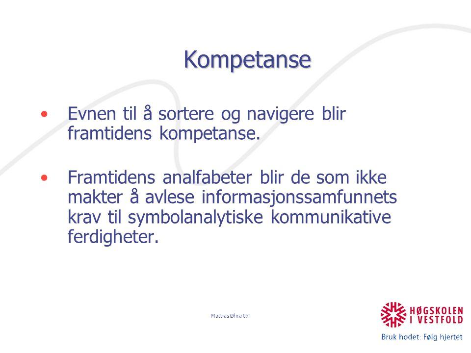 Mattias Øhra 07 Symbolsk kapital (Bourdieu) HABITUS: Innprentede vaner og disposisjoner som gjør det mulig å oppføre seg riktig , å mestre samhandlingsreglene i et samfunn.