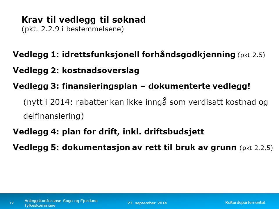 Kulturdepartementet Norsk mal: Tekst med kulepunkter – 4 vertikale bilder Idrettsfunksjonell forhåndsgodkjenning av planer (pkt.