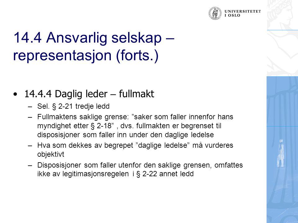 14.5 Aksjeselskaper - organisasjon 14.5.1.1 Innledning –Generalforsamlingen (GF) er et internt organ.
