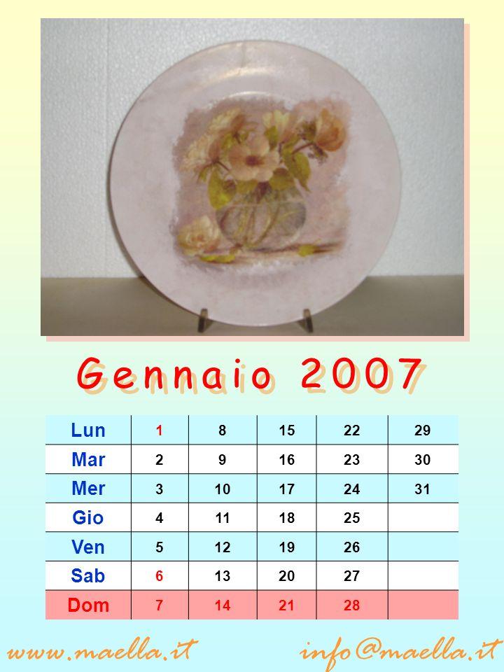 Lun 5121926 Mar 6132027 Mer 7142128 Gio 181522 Ven 291623 Sab 3101724 Dom 4111825 www.maella.itinfo@maella.it