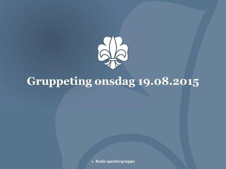 Gruppeting onsdag 19.08.2015.