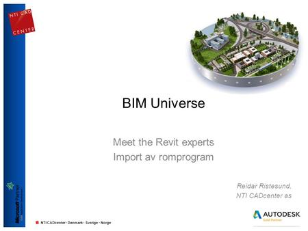 Meet the Revit experts Import av romprogram