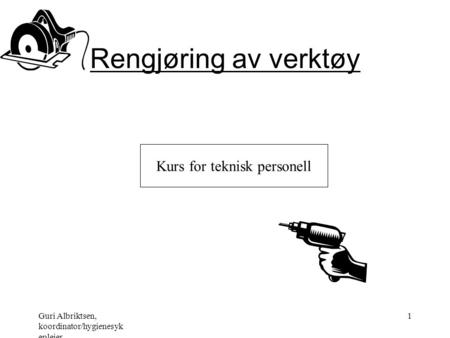 Kurs for teknisk personell