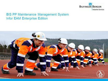 BIS PP Maintenance Management System Infor EAM Enterprise Edition