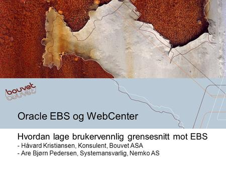 Oracle EBS og WebCenter