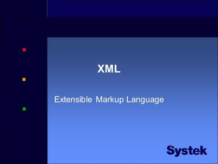 XML Extensible Markup Language Program •XML – hvordan ser et XML dokument ut? •Programmatisk behandling av XML •SAX – Simple API for XML •DOM – Document.