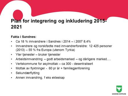 Plan for integrering og inkludering