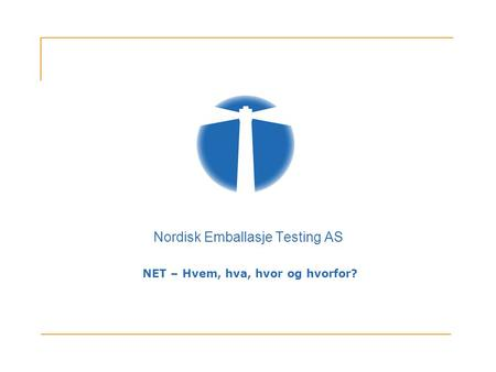 Nordisk Emballasje Testing AS