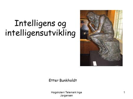 Intelligens og intelligensutvikling