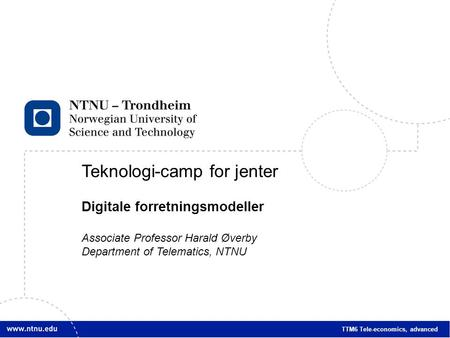 Teknologi-camp for jenter