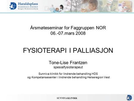 Årsmøteseminar for Faggruppen NOR mars 2008