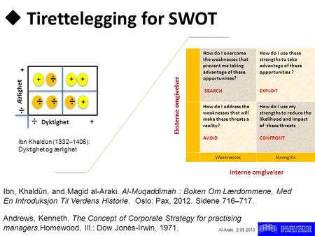 Tirettelegging for SWOT