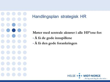 Handlingsplan strategisk HR