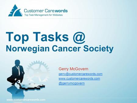 Top Norwegian Cancer Society Gerry McGovern
