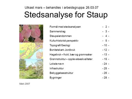 Stedsanalyse for Staup