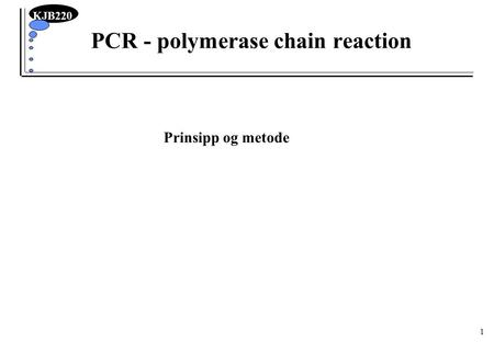 PCR - polymerase chain reaction