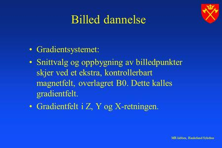 Billed dannelse Gradientsystemet: