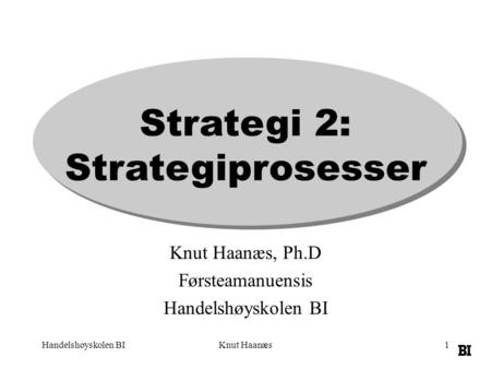 Strategi 2: Strategiprosesser