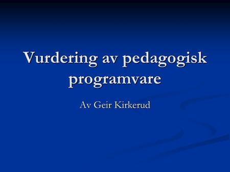 Gratis Nerladdning Pedagogisk Programvare