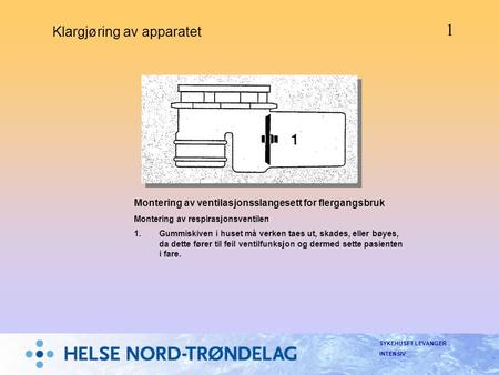 Klargjøring av apparatet