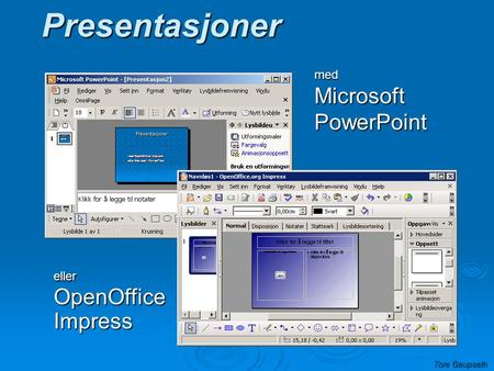 med Microsoft PowerPoint