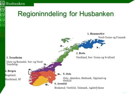 Regioninndeling for Husbanken