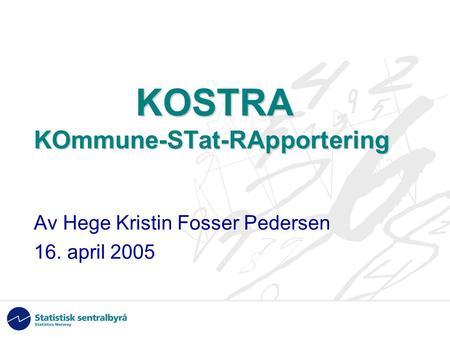 Kostra rapportering 2016
