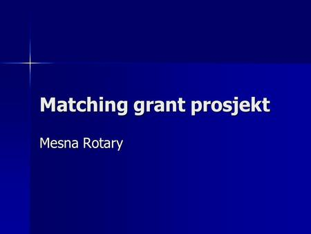 Matching grant prosjekt Mesna Rotary. Ikhaya Lobomi (Home of life) Hospits og omsorgssenter for HIV/AIDS-pasienter. Hospits og omsorgssenter for HIV/AIDS-pasienter.