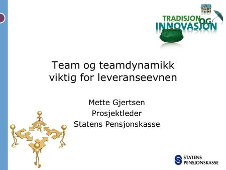 Team og teamdynamikk viktig for leveranseevnen