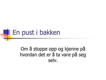 hvordan skrive om seg selv Drammen