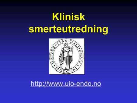 Klinisk smerteutredning  Problemets omfang the US National Institute of Dental and Craniofacial Research reported that an estimated.