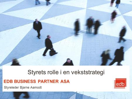 EDB BUSINESS PARTNER ASA