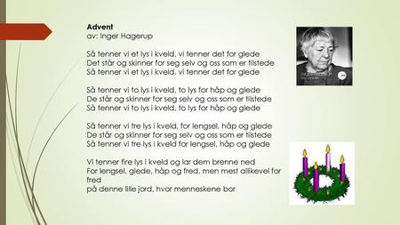 Advent av: Inger Hagerup