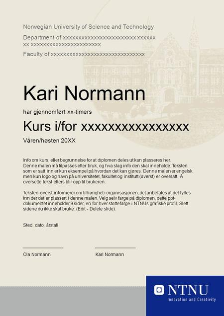 Norwegian University of Science and Technology Department of xxxxxxxxxxxxxxxxxxxxxxxx xxxxxx xx xxxxxxxxxxxxxxxxxxxxxxx Faculty of xxxxxxxxxxxxxxxxxxxxxxxxxxxxxxx.