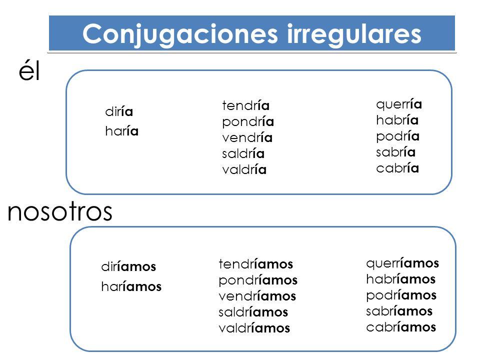 Conjugaciones irregulares