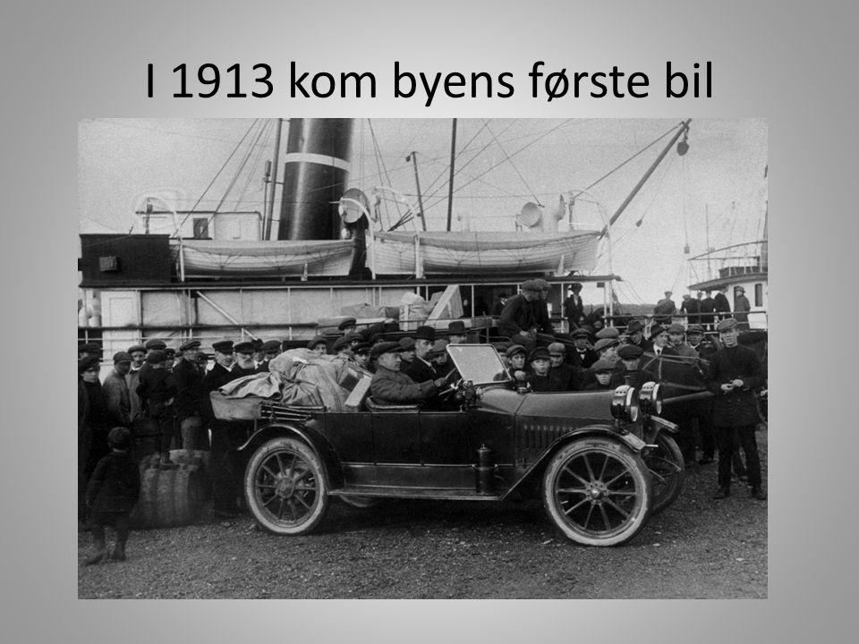 I 1913 kom byens første bil Riksveien over Saltfjellet sto først ferdig i 1937.
