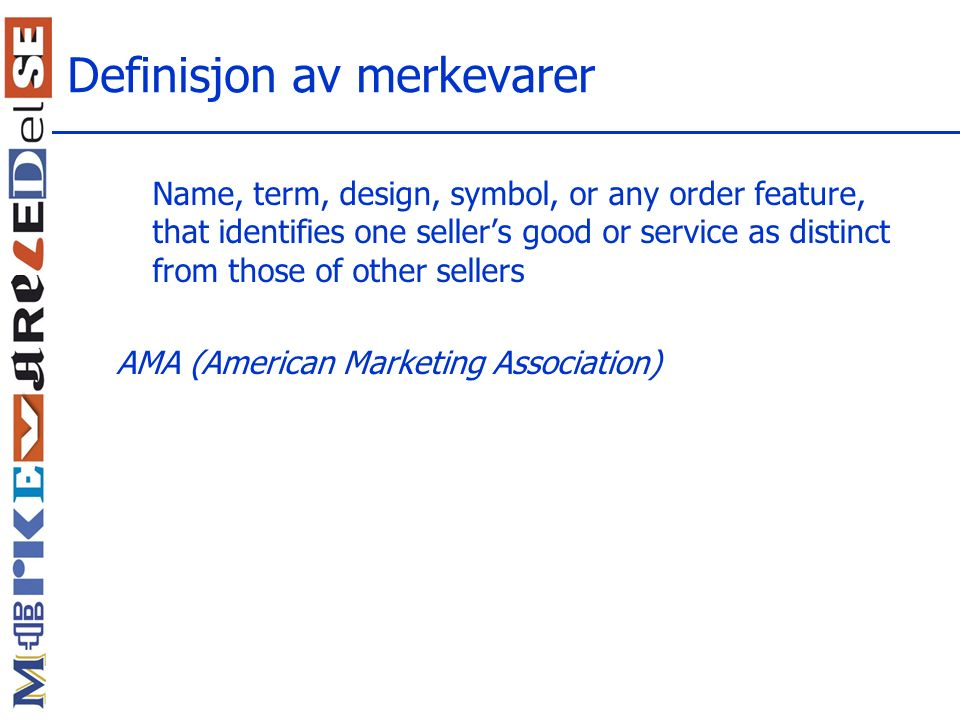 Definisjon av merkevarer
