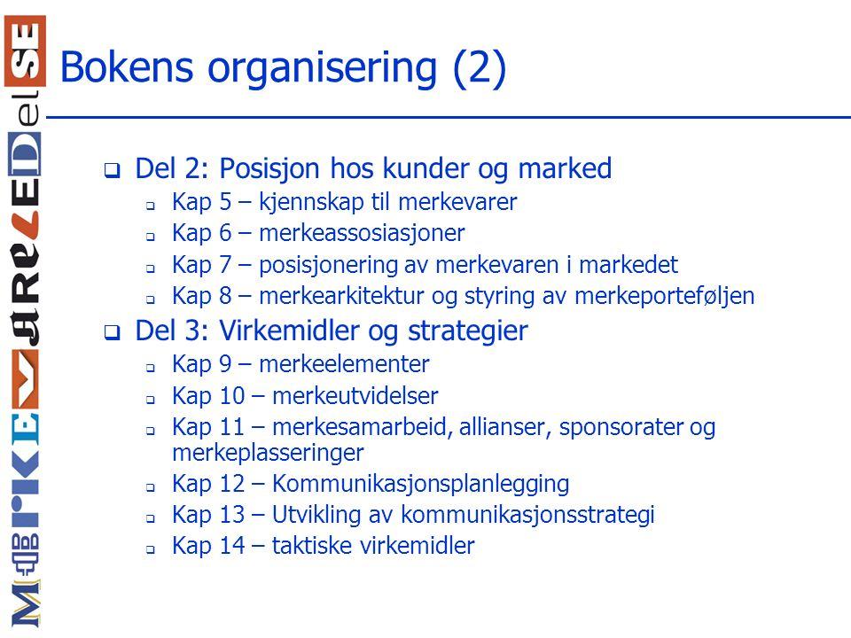 Bokens organisering (2)