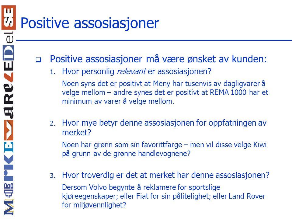 Positive assosiasjoner