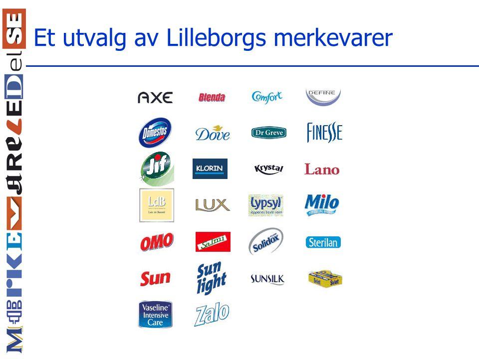 Et utvalg av Lilleborgs merkevarer