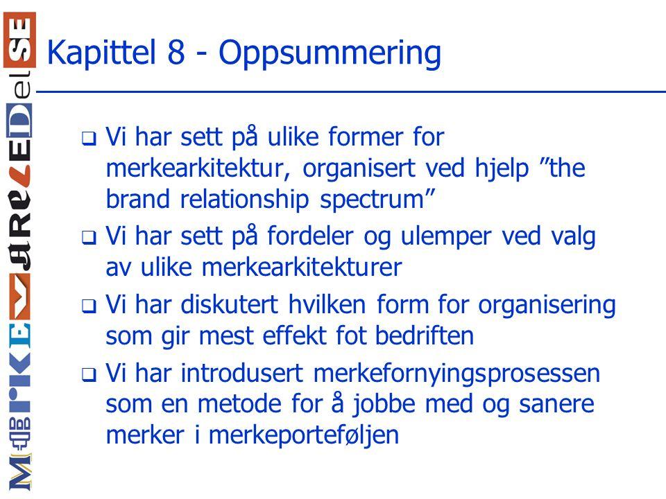 Kapittel 8 - Oppsummering