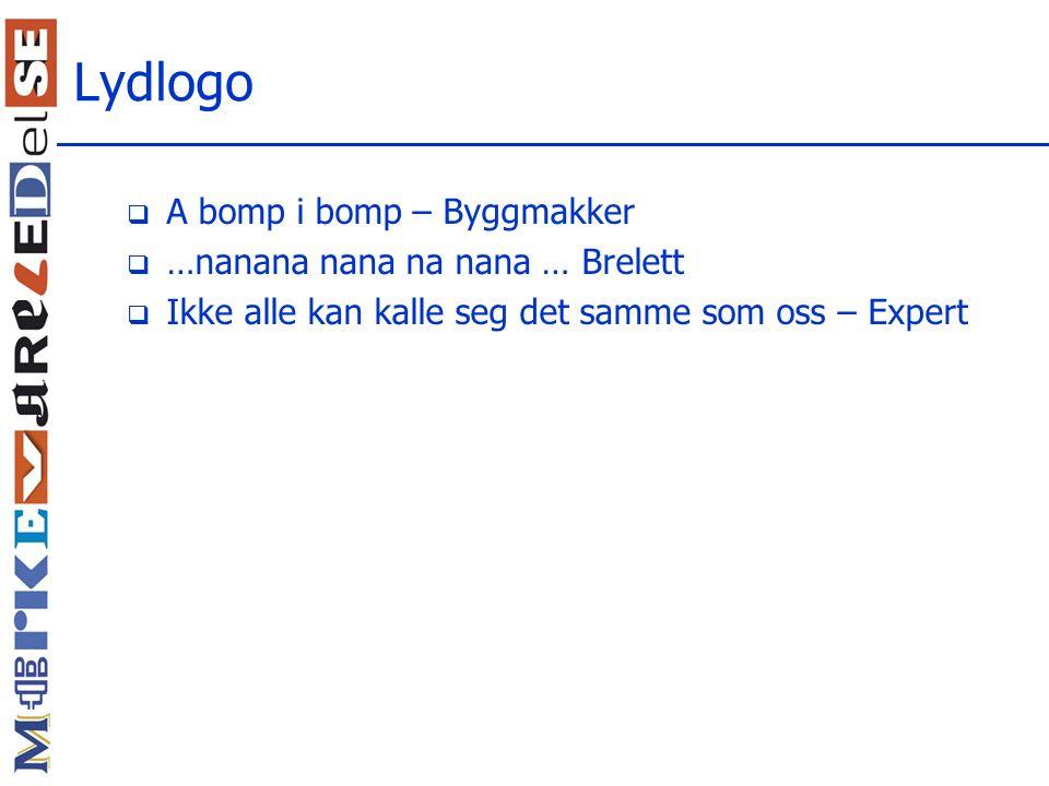 Lydlogo A bomp i bomp – Byggmakker …nanana nana na nana … Brelett