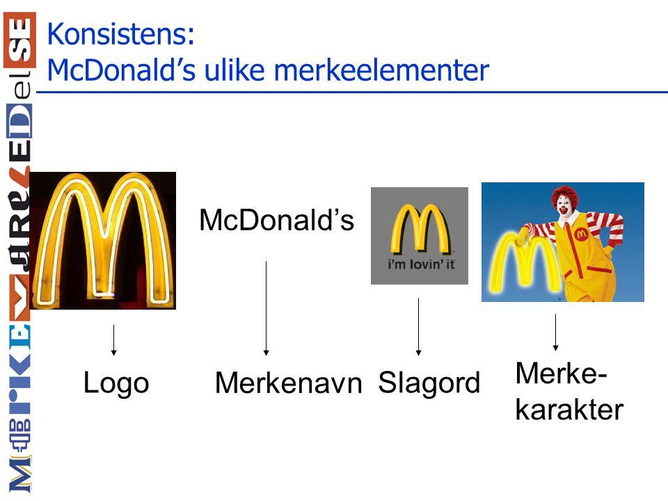 Konsistens: McDonald's ulike merkeelementer